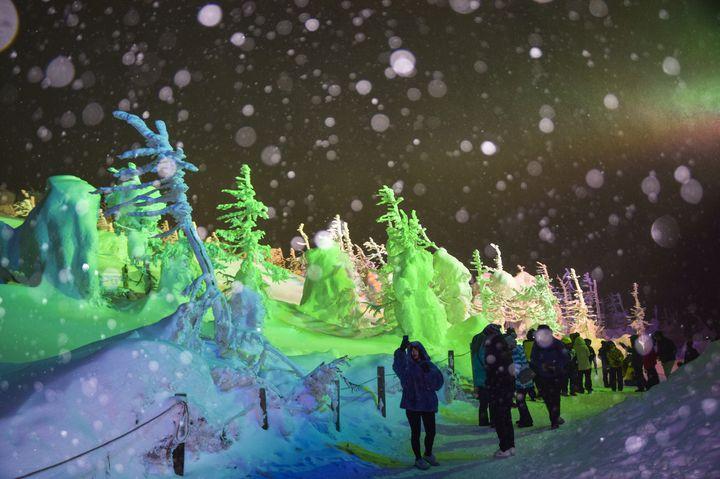 【終了】冬限定の、夢のような景色。蔵王にて「樹氷ライトアップ」今年も開催